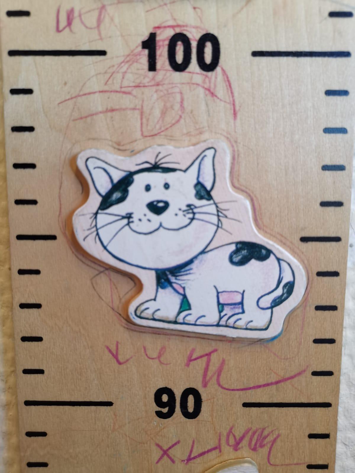 """Die Katze auf der """"Wie groß bist du Leiste"""""""