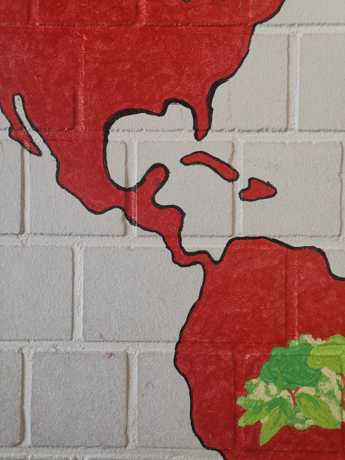 Die Weltkarte im Turnraum