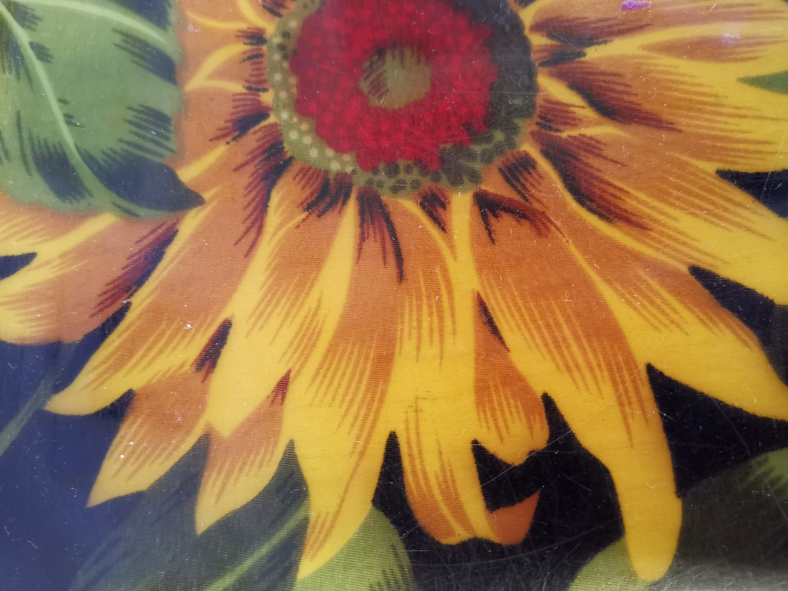 Die Sonnenblume auf dem Tablett