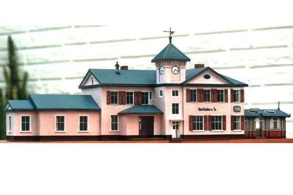 (c) W. Fehse - Empfangsgebäude Vorderseite 1:87 (H0)