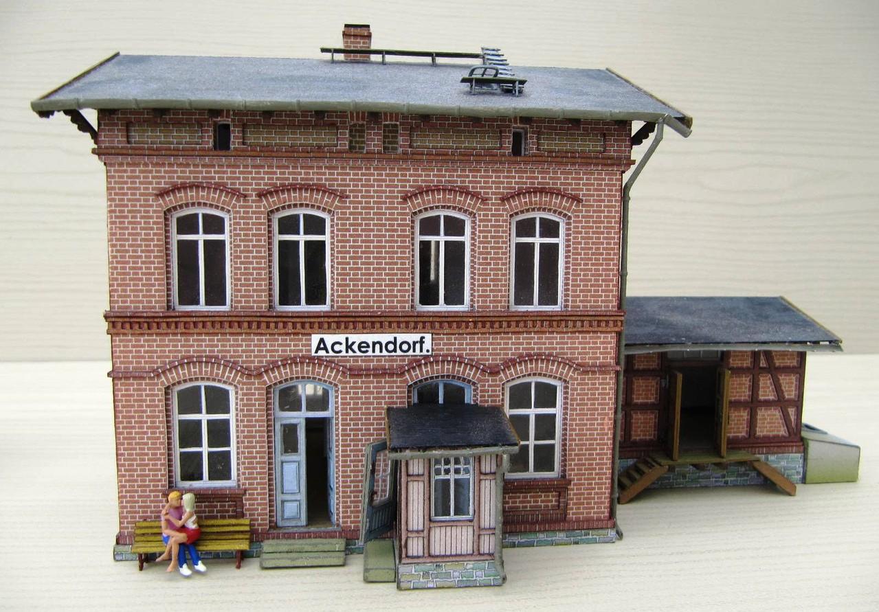 (c) W. Fehse - Bahnhof Ackendorf 1:87 (H0)