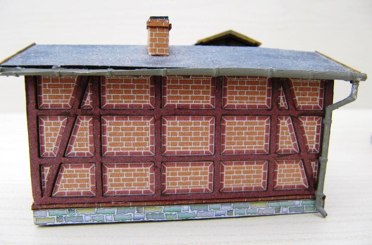(c) W. Fehse - Nebengebäude - Rückseite 1:87 (H0)