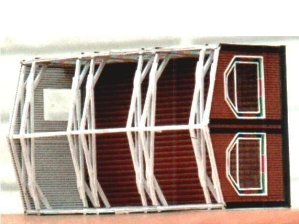 (c) W. Fehse - Dachkonstruktion aus Karton 1:87 (H0)