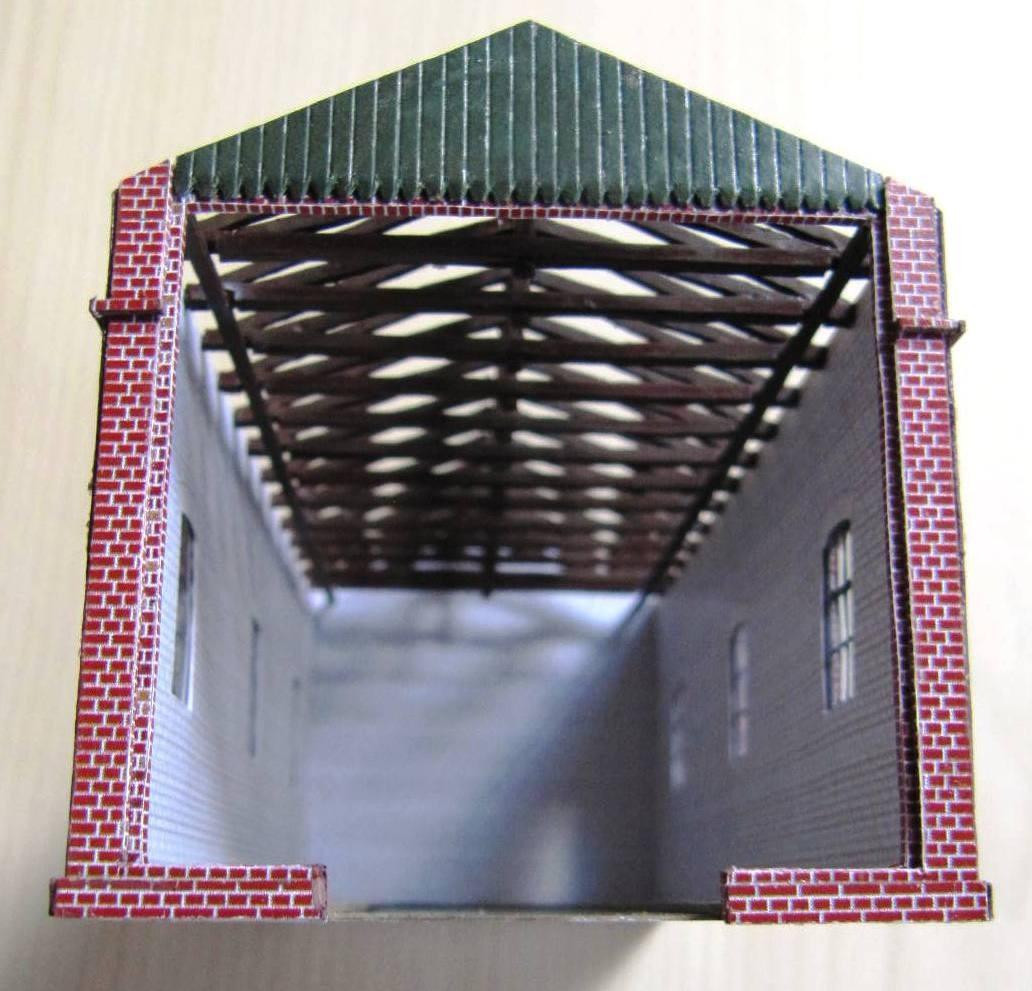 (c) W. Fehse - Dachstuhl aus Karton 1:87 (H0)