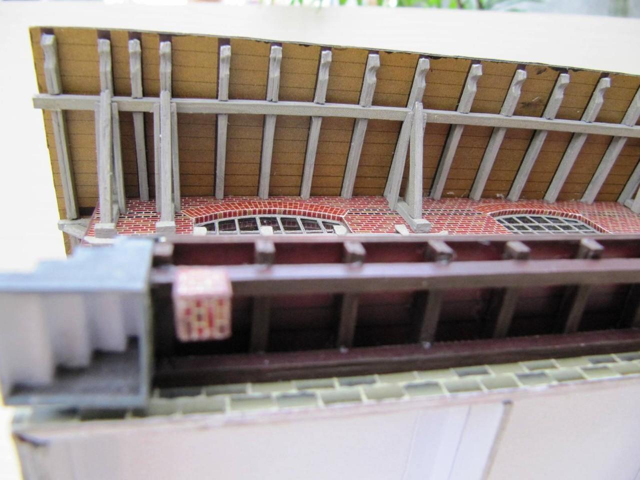 (c) W. Fehse - gewaltige Stütz- und Dachkonstruktion 1:87 (H0)