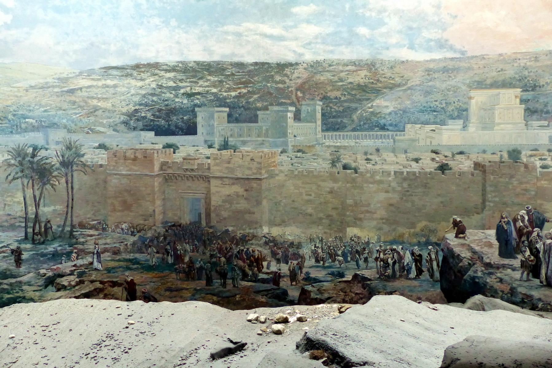 Motiv 1 - Moriah - Altstadt Jerusalem vor dem Ölberg