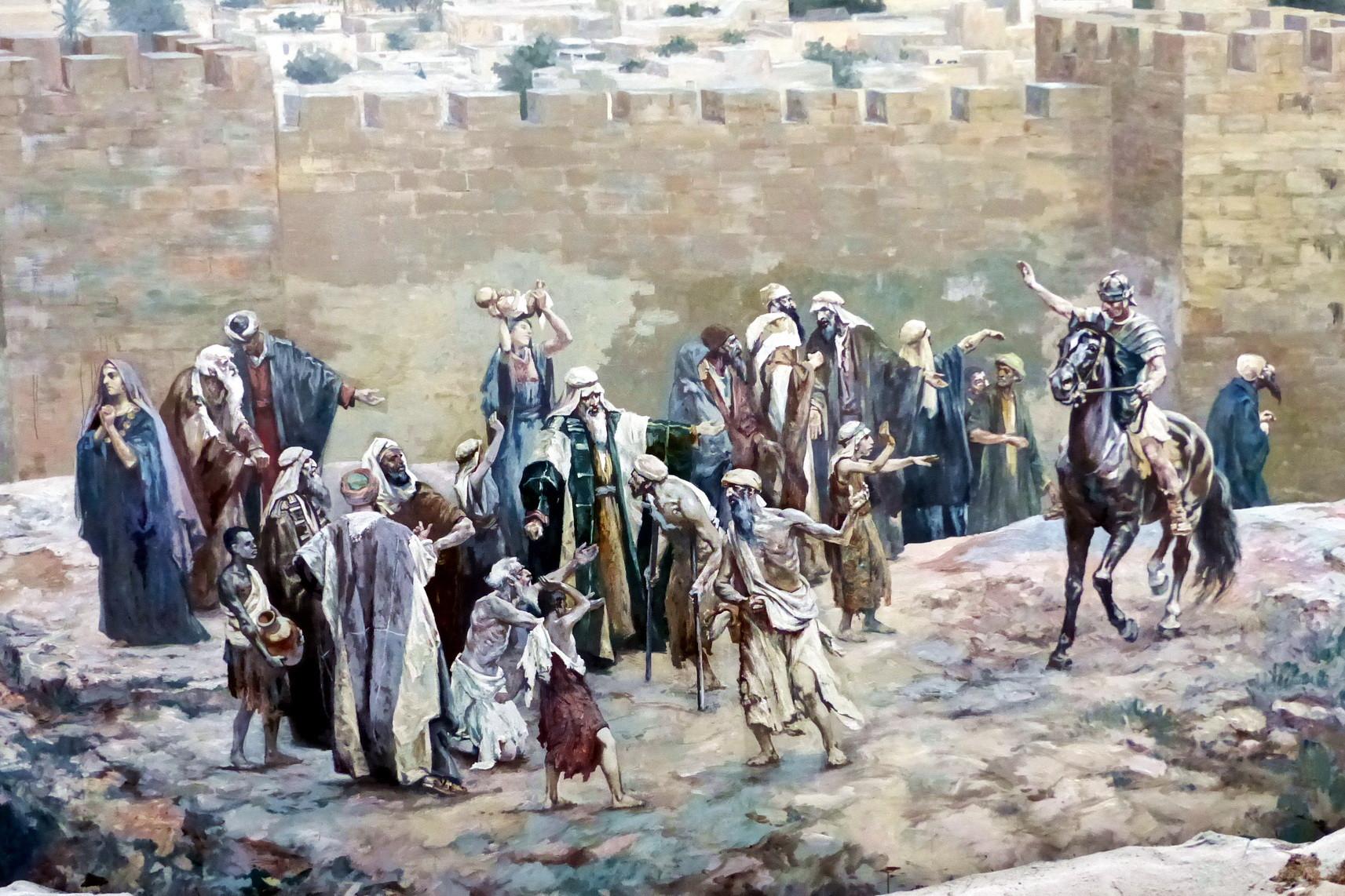 Motiv 9 - Ein römischer Kavallerist vertreibt die Pilger