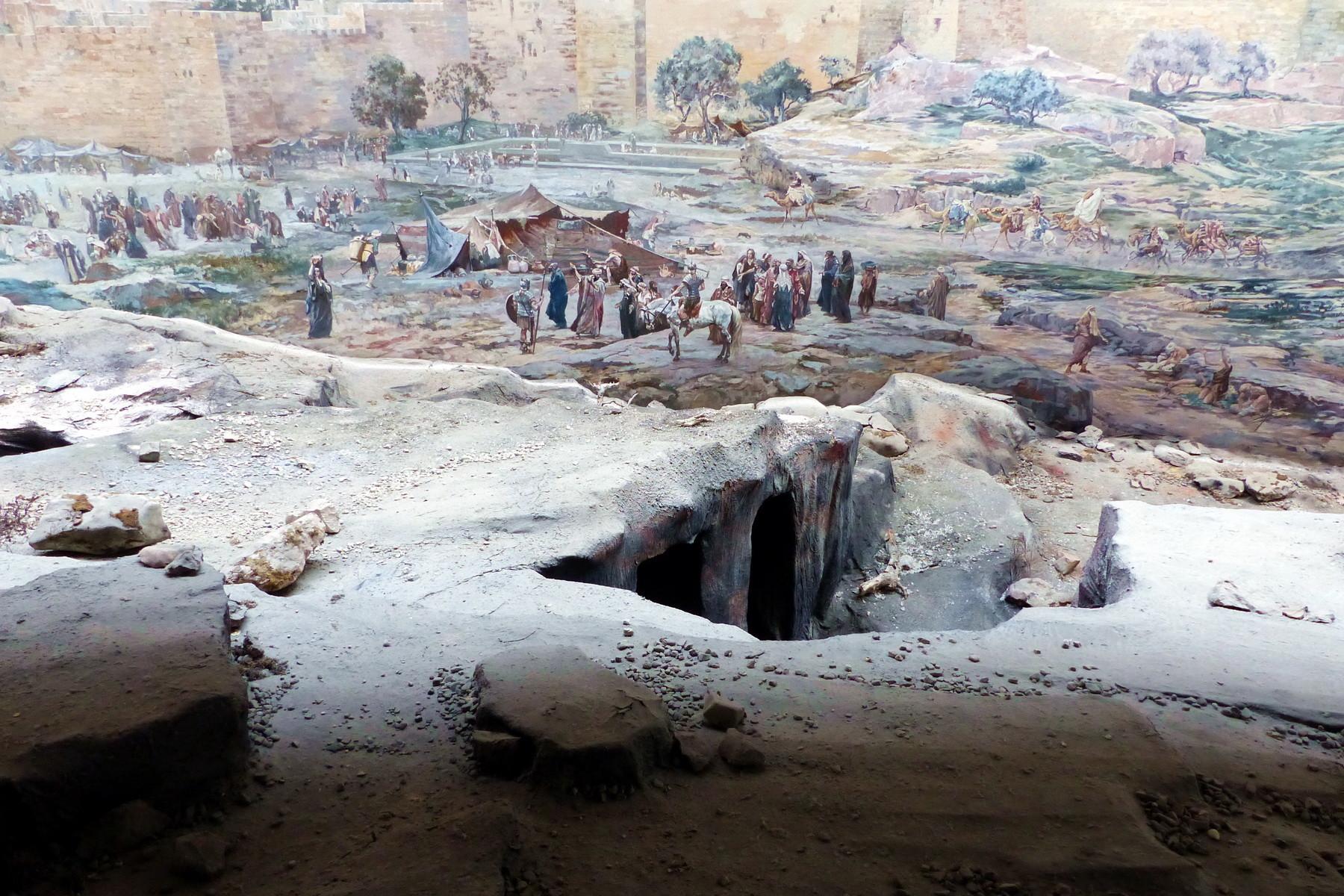 Motiv 2 - Pilger vor der Stadtmauer