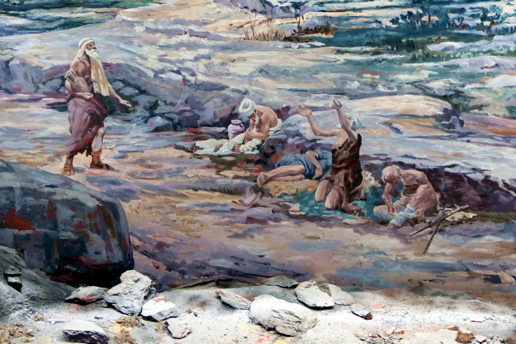 Motiv 10 - Arme am Ufer des Teiches Siloah