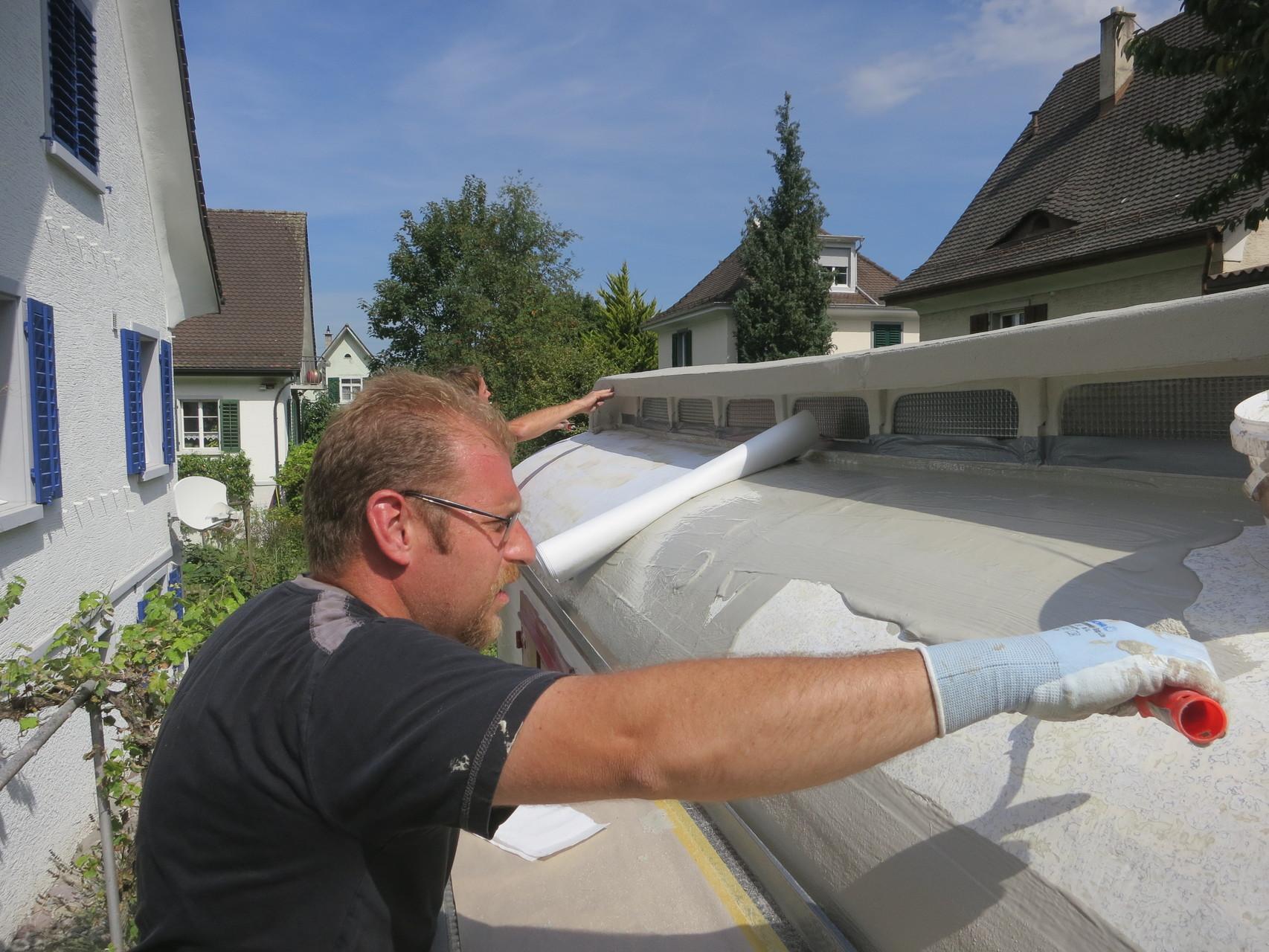 Kovexe Dachflächenabdichtung