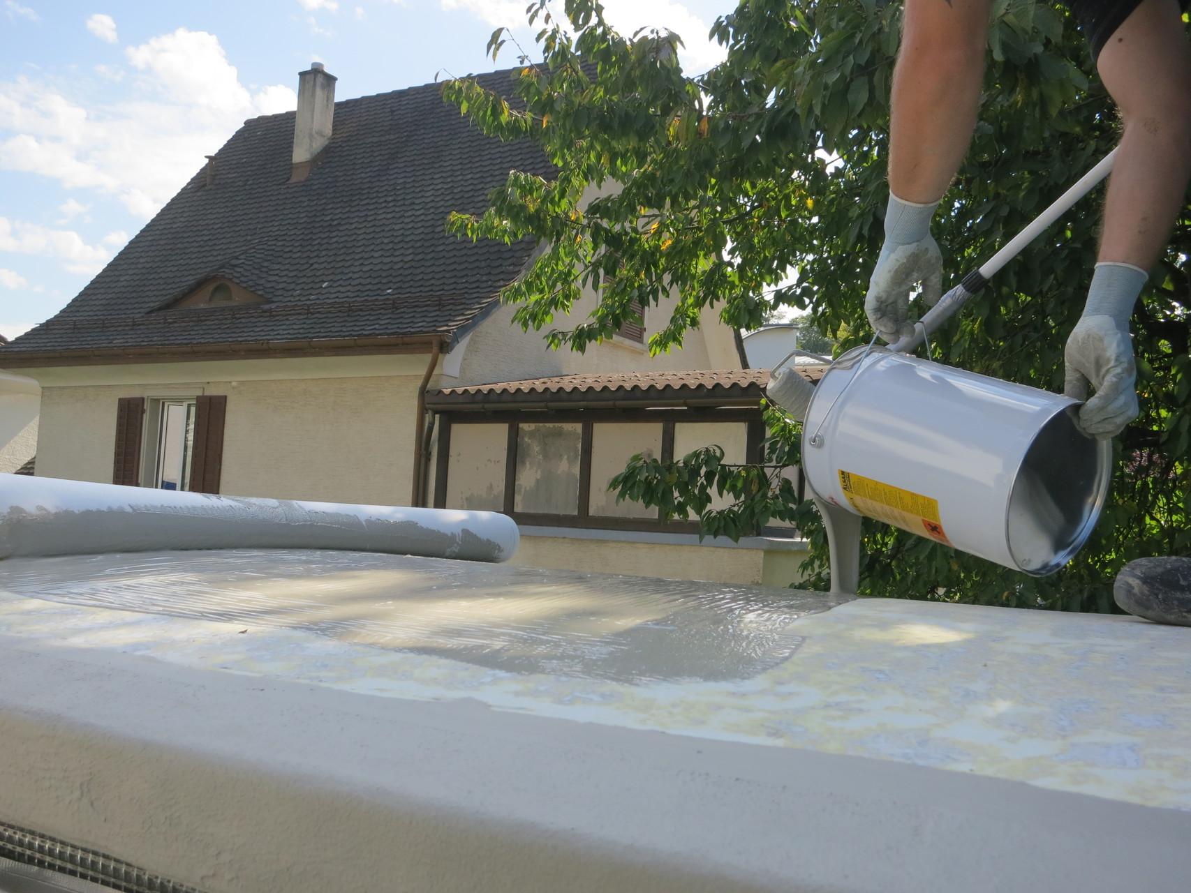 Flächenabdichtung Dach