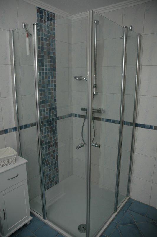 Dusche in der 1. Etage