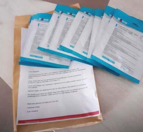 FFP2 Maskan für die Mitglieder der CF-Selbsthilfe Köln e.V.