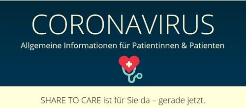 Coronavirus Share to care ist für Sie da