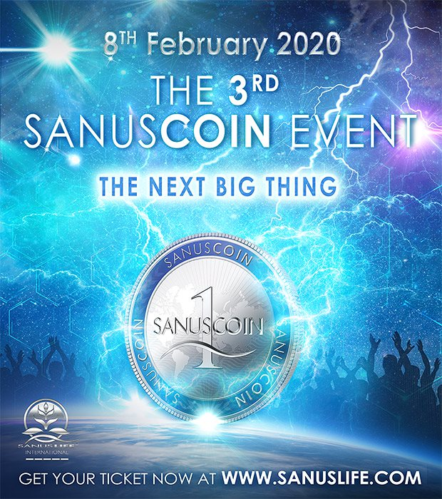 "SANUSCOIN EVENT ""Quelle: SANUSLIFE® INTERNATIONAL GmbH / Srl"""