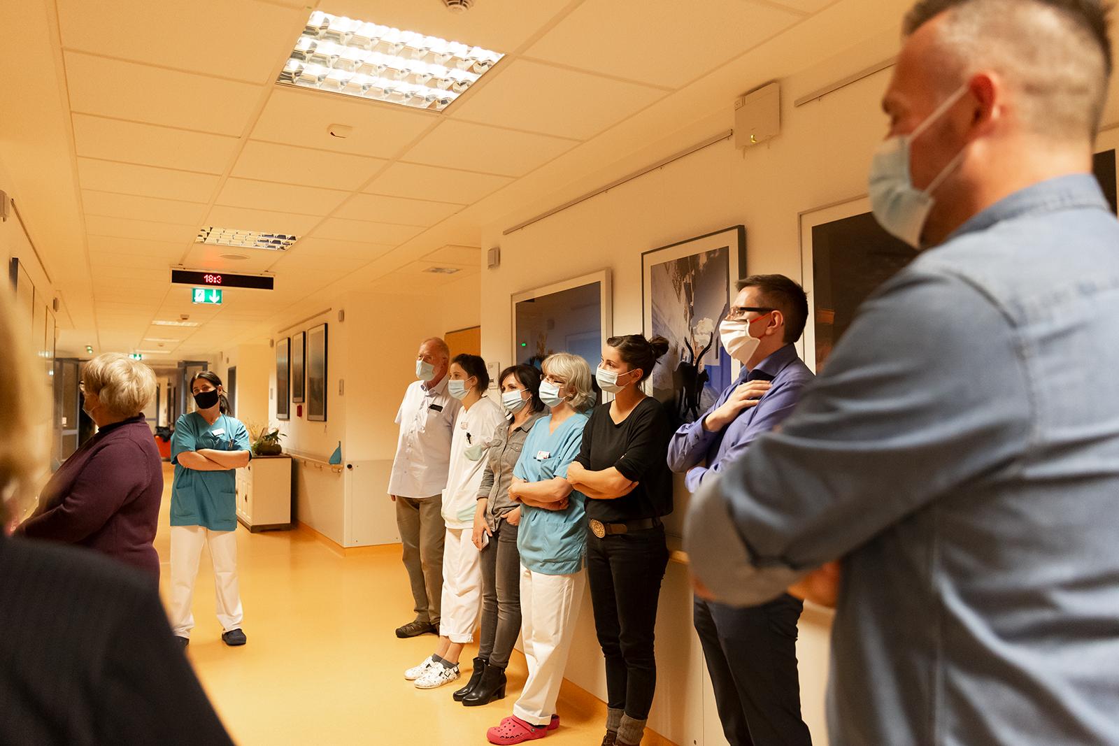 Vernissage der 19. Bilderausstellung am 12. Oktober 2020 auf der Palliativstation der Ilm-Kreis-Kliniken in Ilmenau