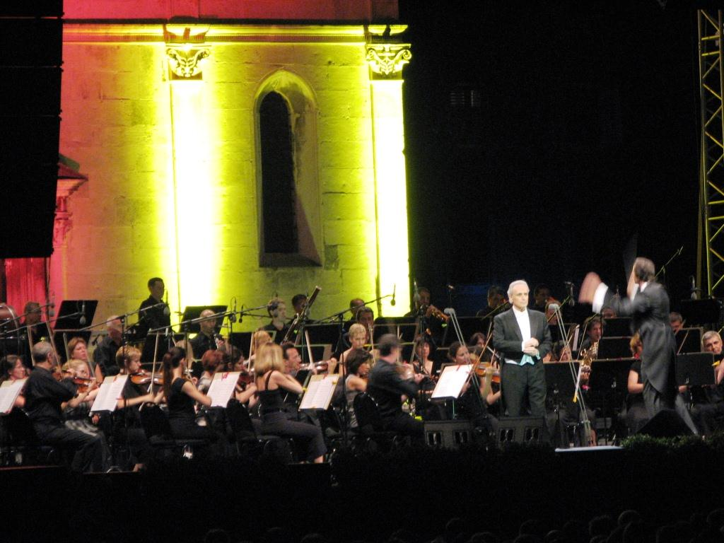 Jose Carreras, Sommerkonzert im Forum in Zadar