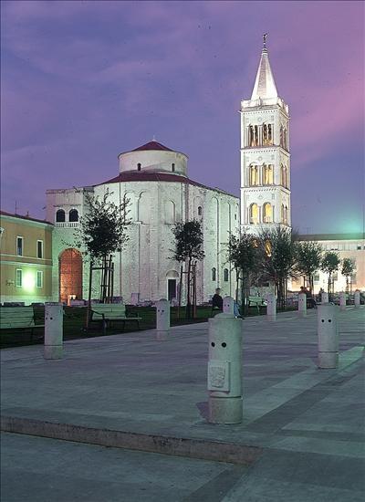 Zadar, Abendstimmung mit Sveti Donat