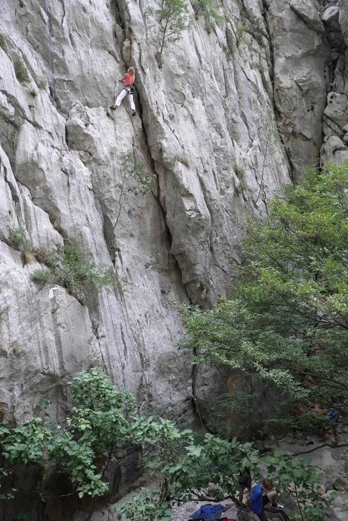 Steilwände - Kletterparadies
