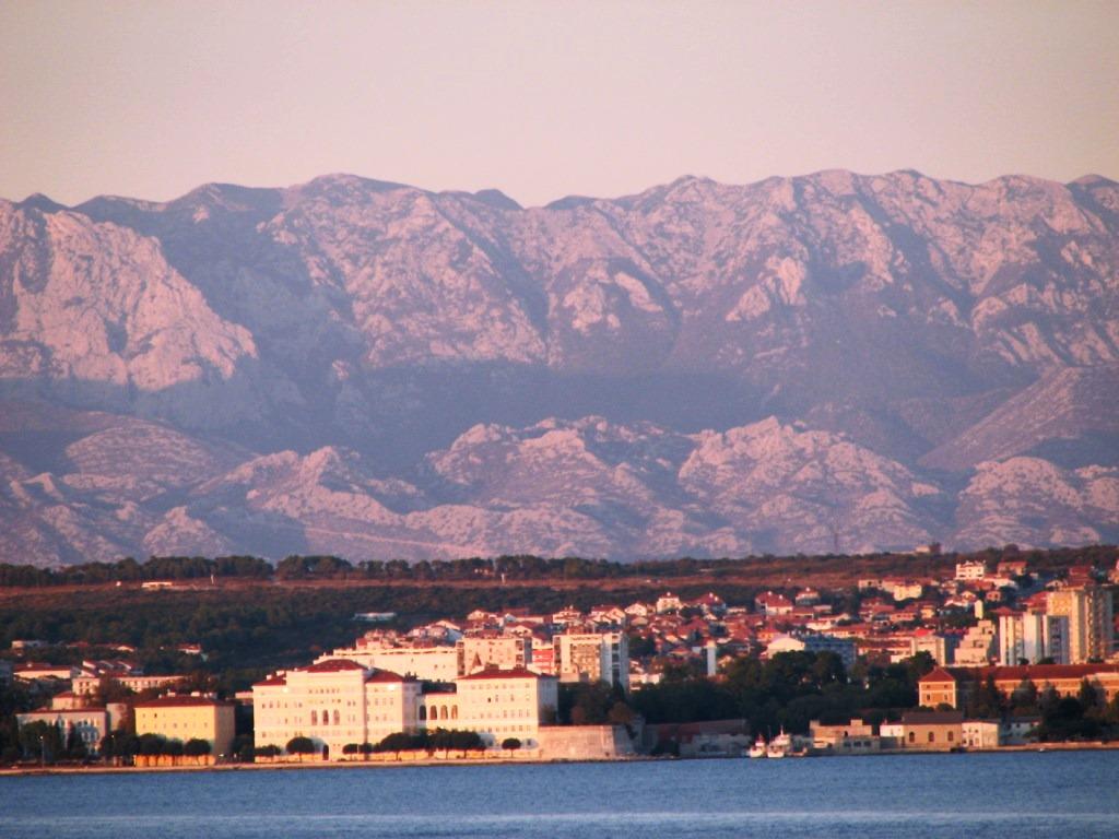Blick auf Zadar von unserer Dachterrasse