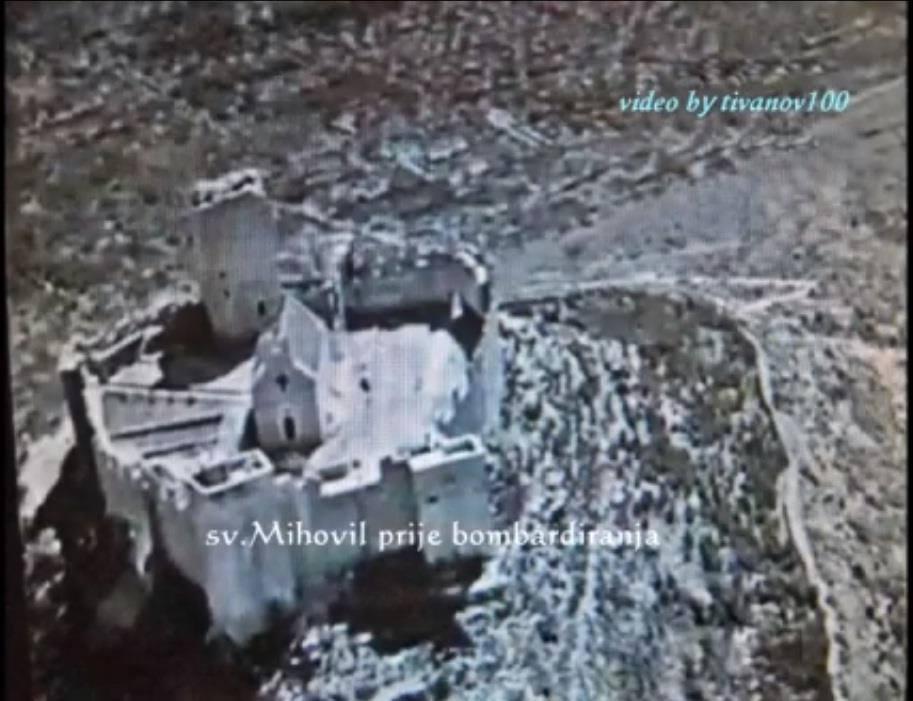 Sveti Mihovil vor der Zerstörung im zweiten Weltkrieg