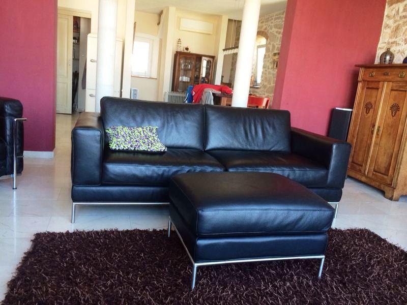 Sofa Wohnzimmer, Blick Esszimmer