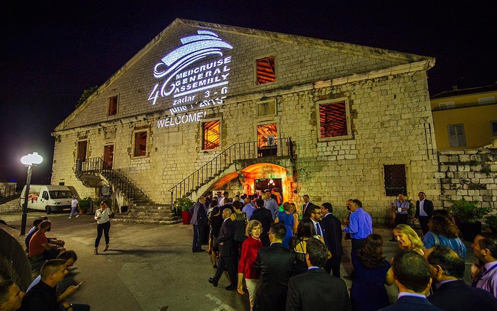 """Das """"alte Arsenal"""", heute Bar, Restaurant und Konzertsaal"""
