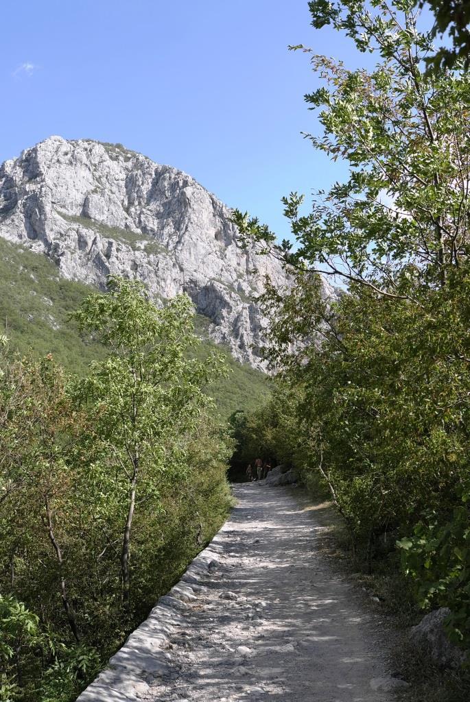 Anstieg in die Berge