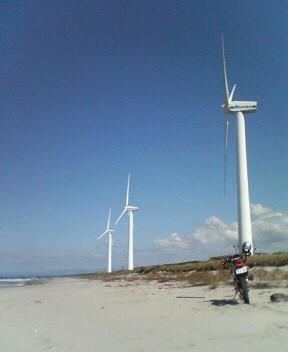 風車がある風景
