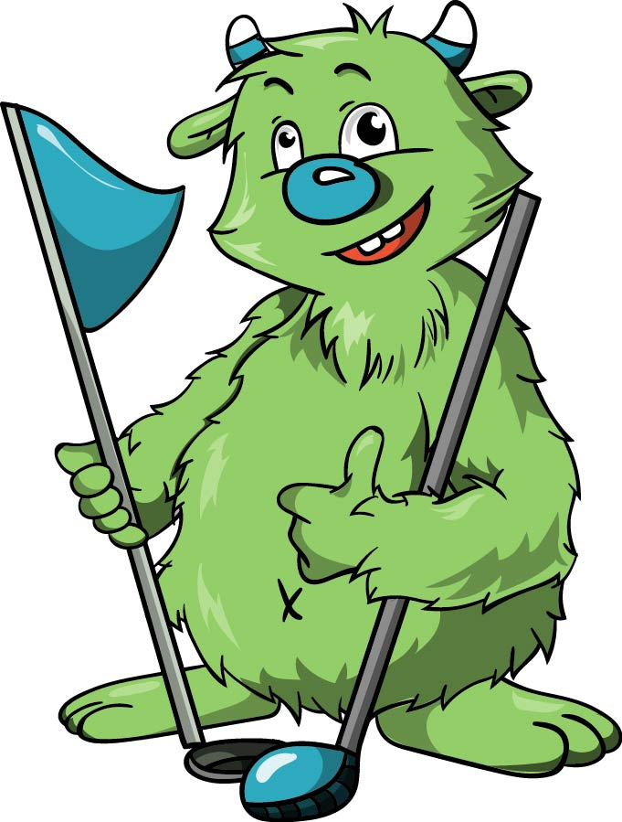 Illustration Maskottchen Thema Golf