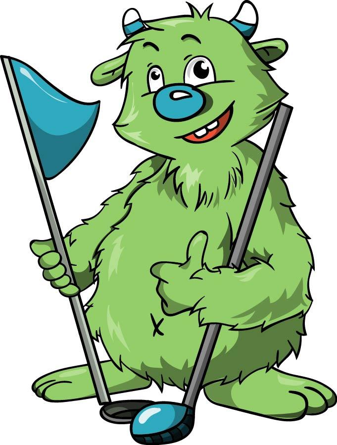 Illustration Maskottchen Thema Golf
