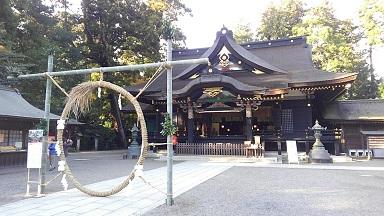 香取神宮本殿と茅の輪くぐり