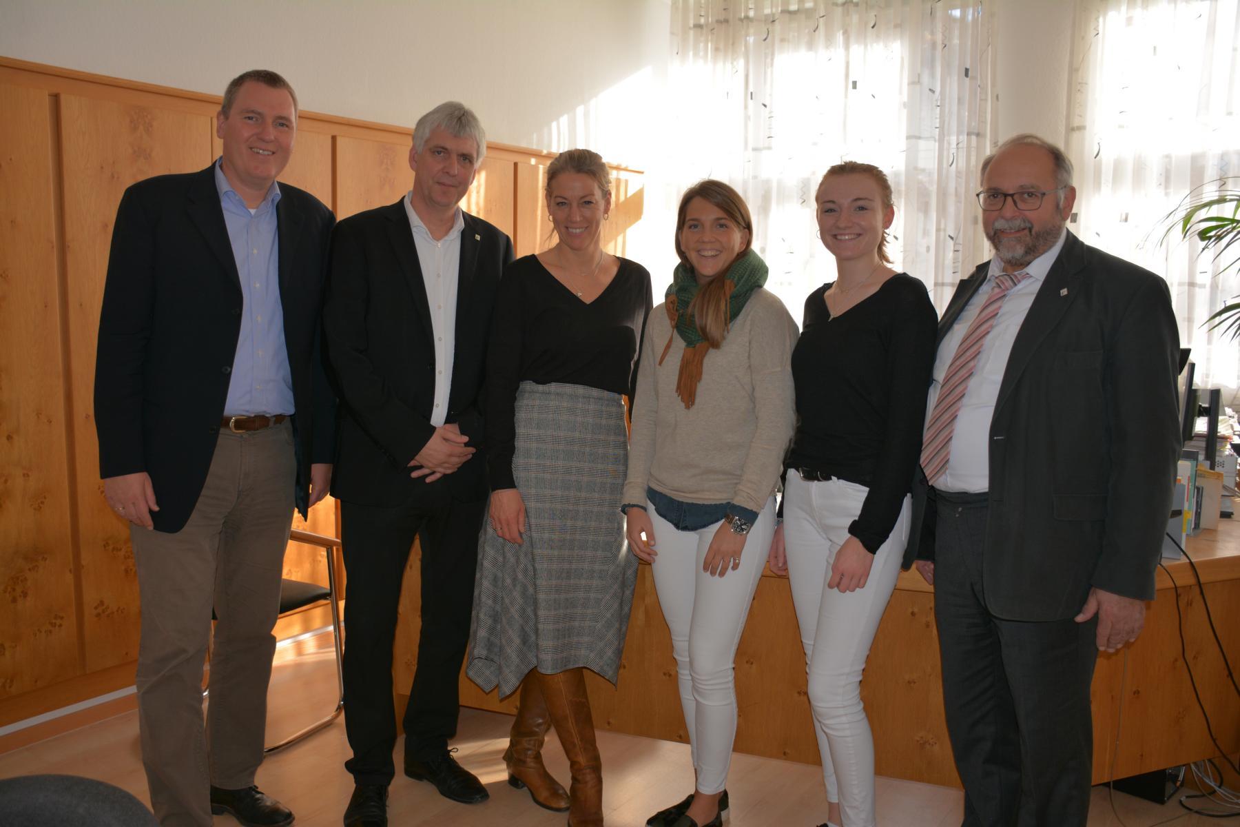 Erasmus-Koordinatoren KS1 und FEDA Madrid mit Azubis
