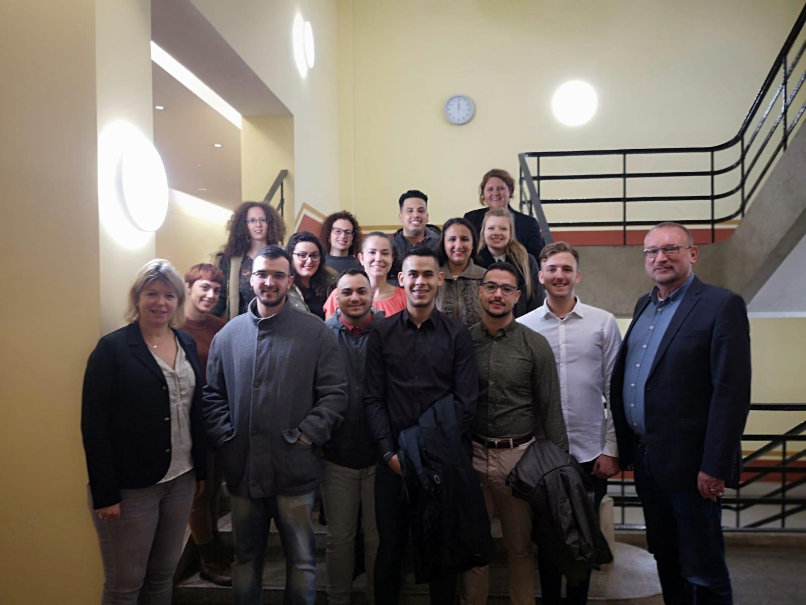 Begrüßung in der Partnerschule Staatliche Gewerbeschule für Gastronomie und Ernährung (BS03)