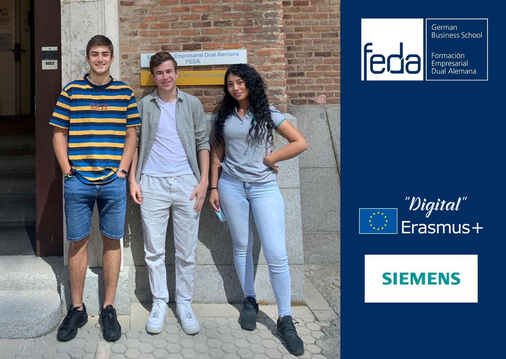 Digitales Erasmus+ mit Siemens in Zeiten der Pandemie