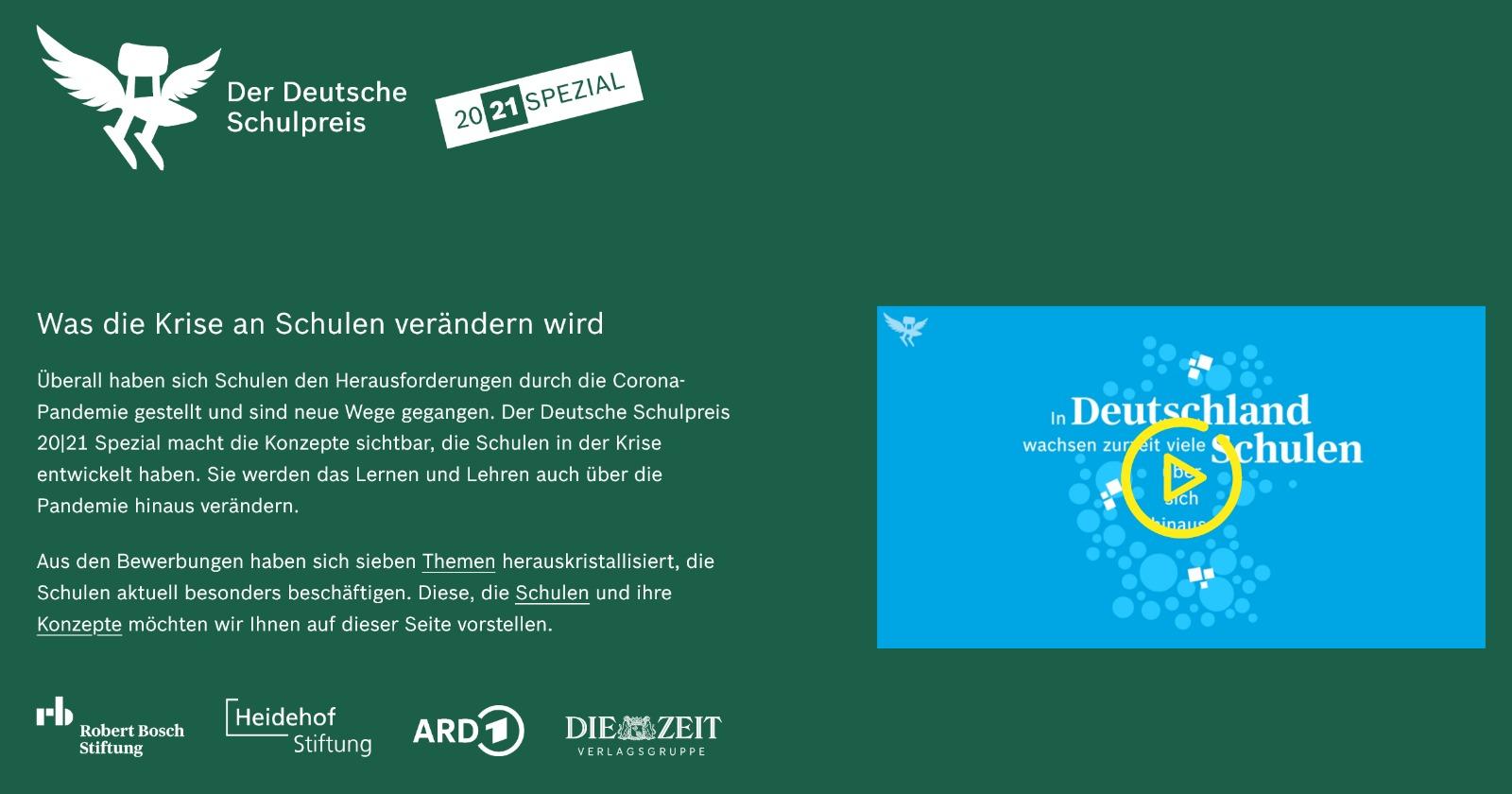 """Deutscher Schulpreis Spezial 2021 - """"FEDA Madrid Netzwerke"""""""