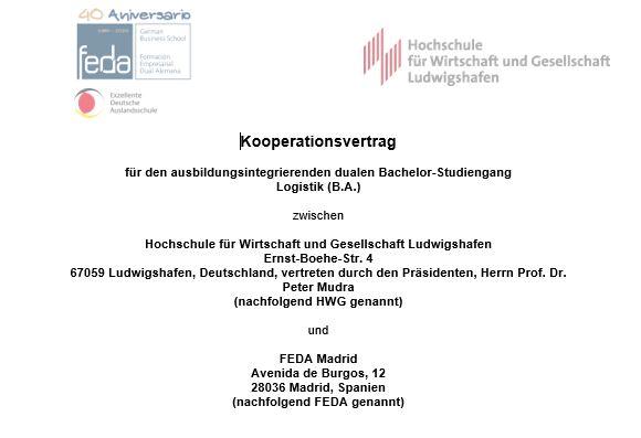 Die unterzeichnete Kooperationsvereinbarung