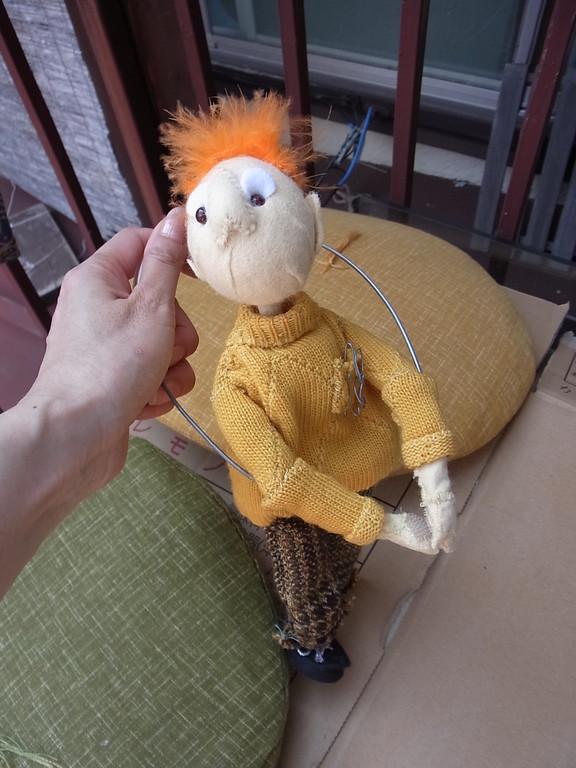 ニー・シアターで遣った人形。