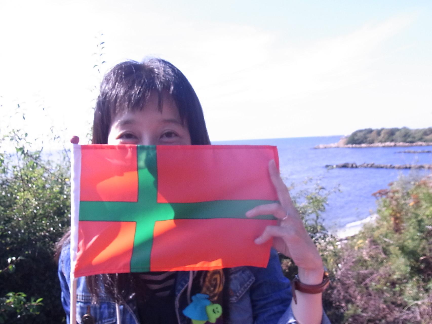 ボンホルム島の旗。