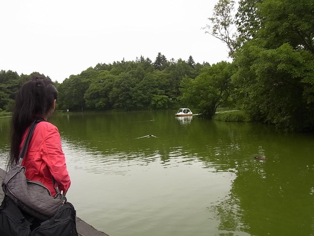 塩沢湖です。
