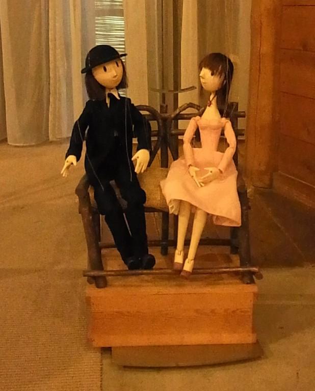 人形作家・ハラチエさん制作の恋人たちのマリオネット。