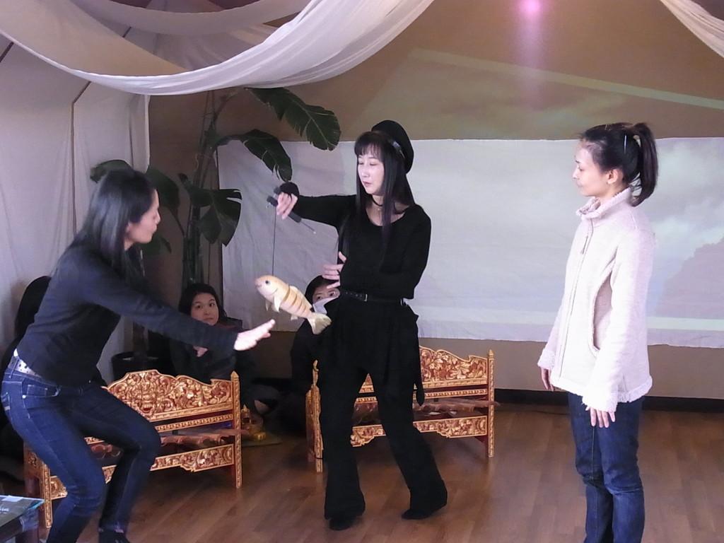 踊り子さんと動きの確認中~