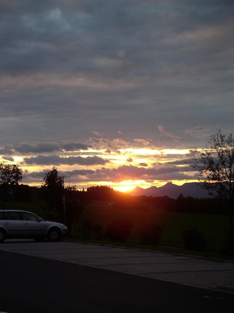 Anfahrt noch vor Sonnenaufgang