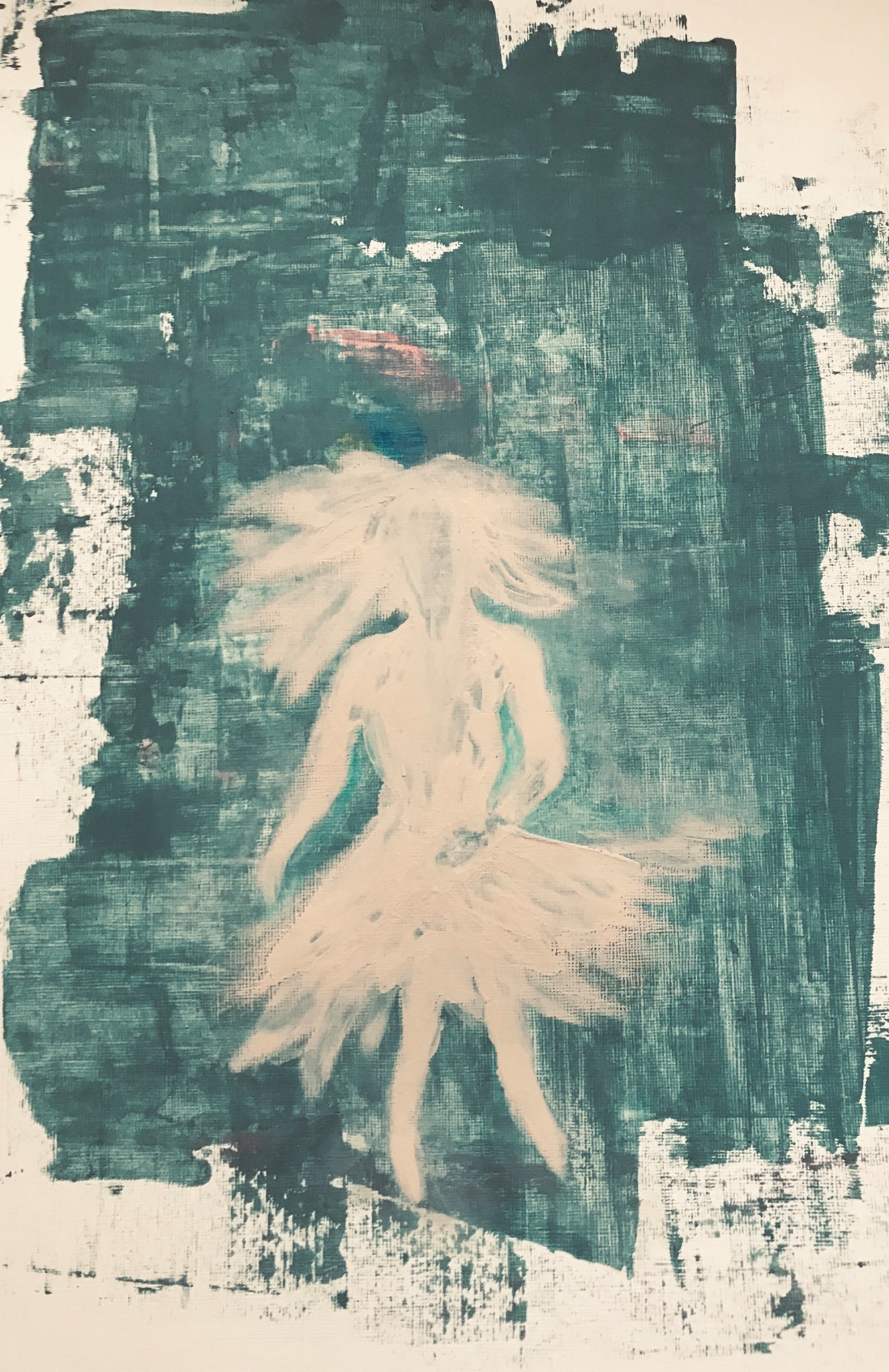 Tänzerin, mixed media auf Papier