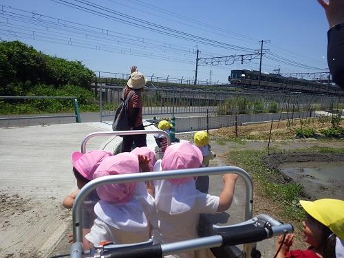 天気がいい日は近くの電車が見えるところまでお散歩♪