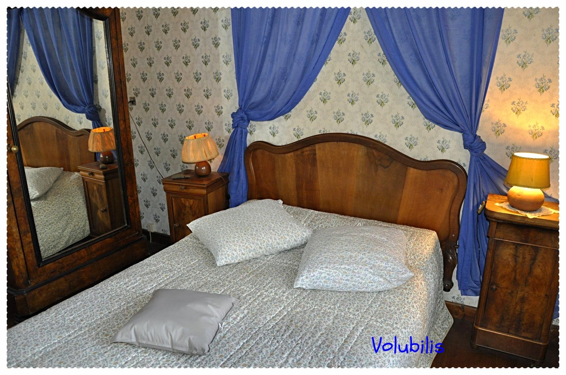 chambre bleue romantique