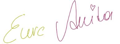 Unterschrift Anita