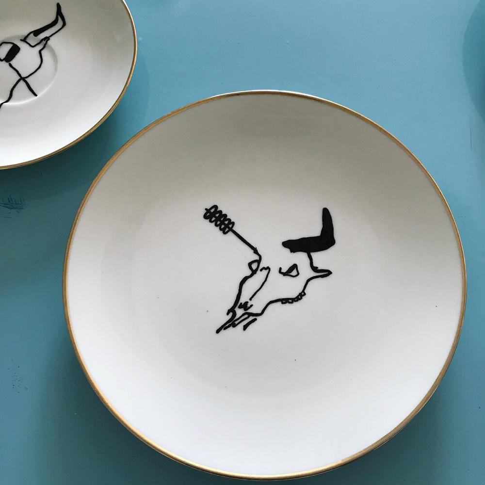 Bull Skulls on porcelain