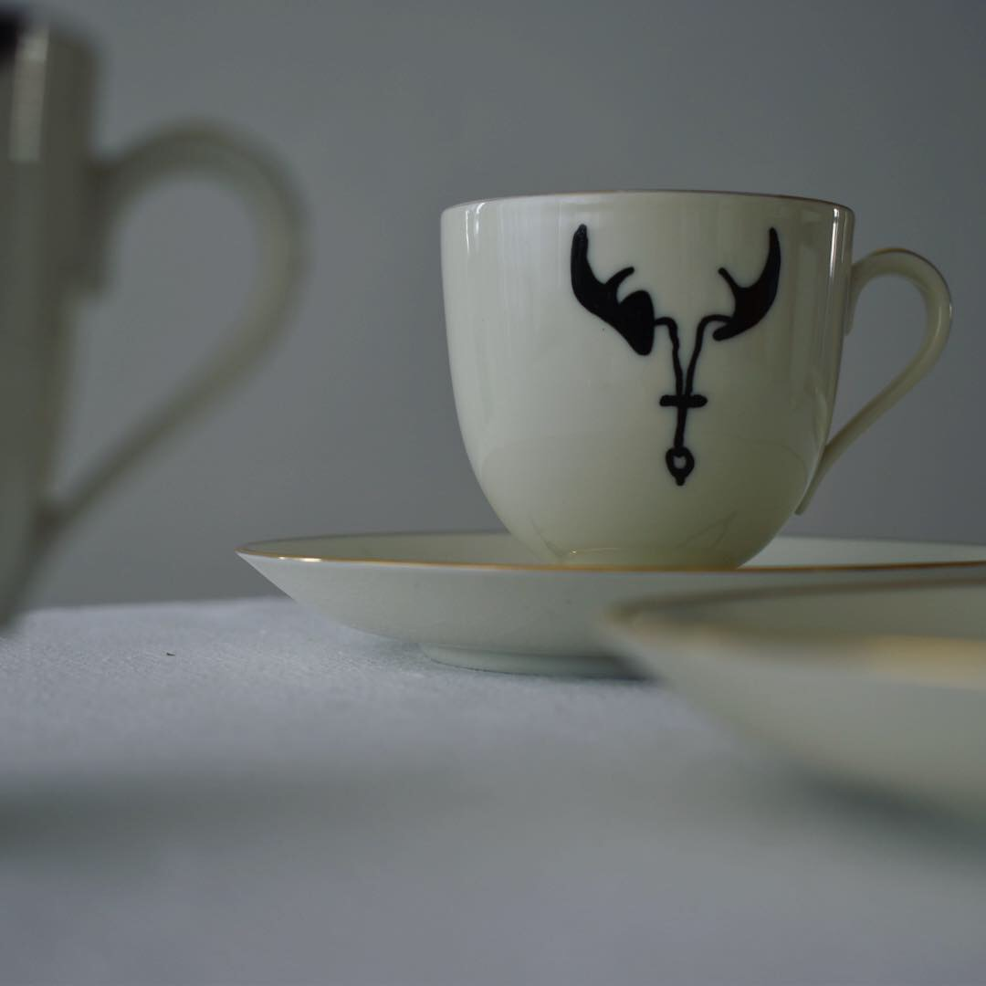 Bull Skull Series on porcelain