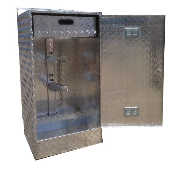 Caja de aluminio guardarnés